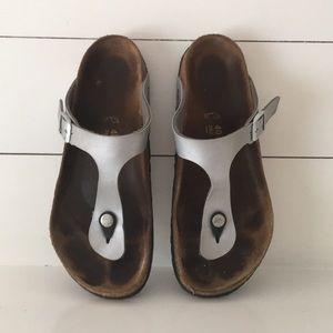 Birkenstock Gizeh Sandals Silver